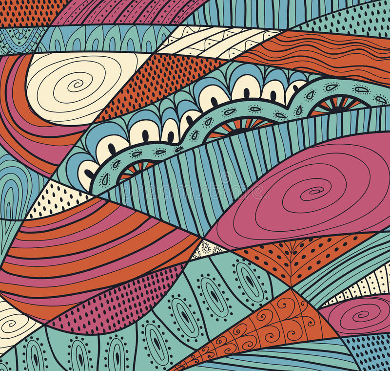 Vector naadloze textuur met abstracte bloemen Eindeloze achtergrond Etnisch naadloos patroon Helder patroon Helder patroon Summe stock illustratie