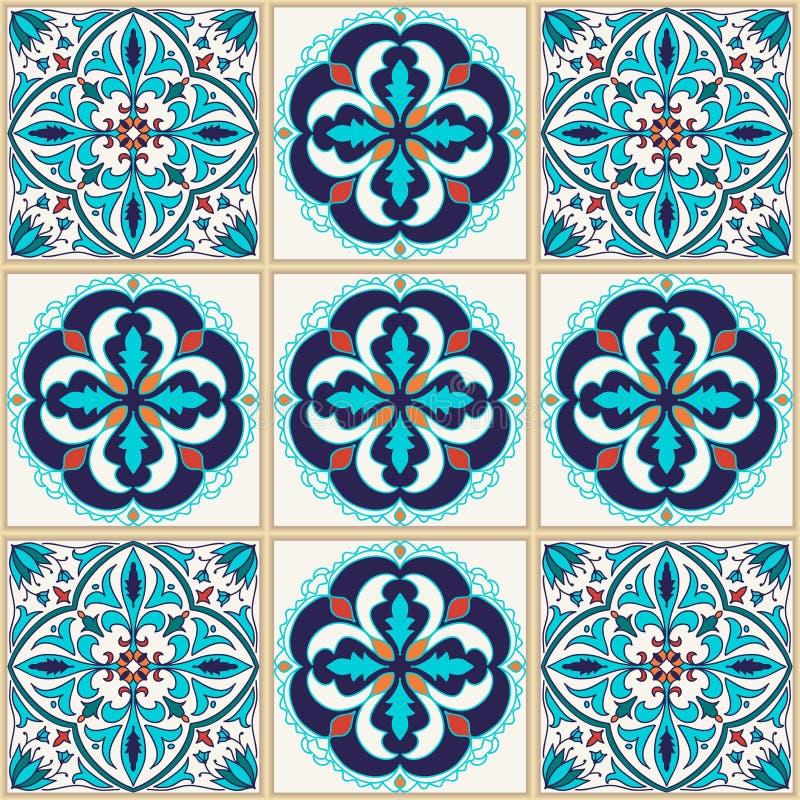 Vector naadloze textuur Mooi gekleurd patroon voor ontwerp en manier met decoratieve elementen stock illustratie