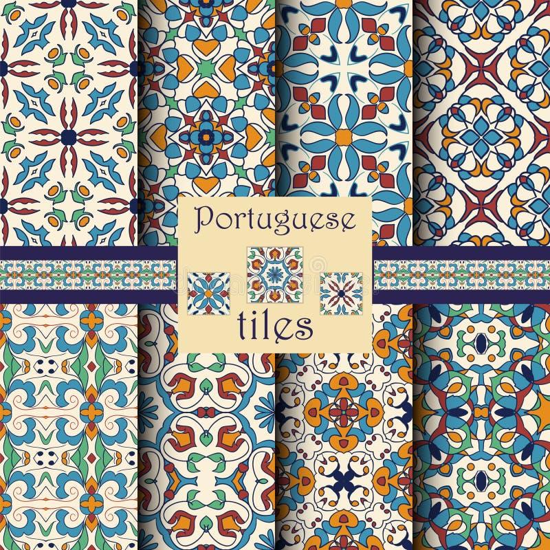 Vector naadloze textuurinzameling Reeks mooie gekleurde patronen royalty-vrije illustratie