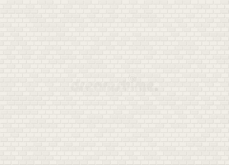 Vector naadloze witte de bakstenen muurtextuur van de kopbalband stock illustratie