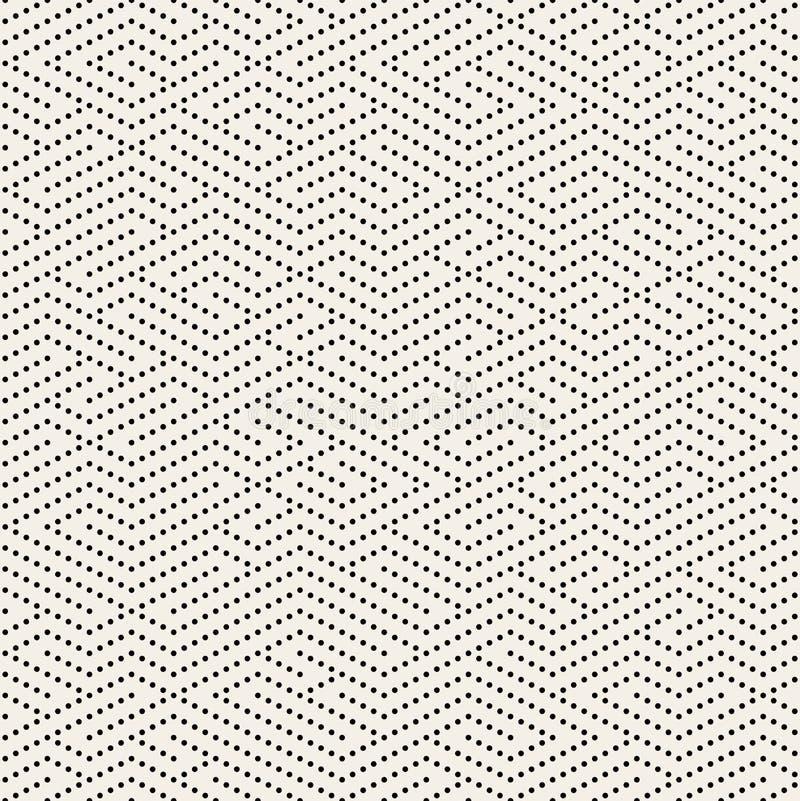 Vector Naadloze Zwart-witte Gestippelde Lijnen Maze Pattern stock illustratie