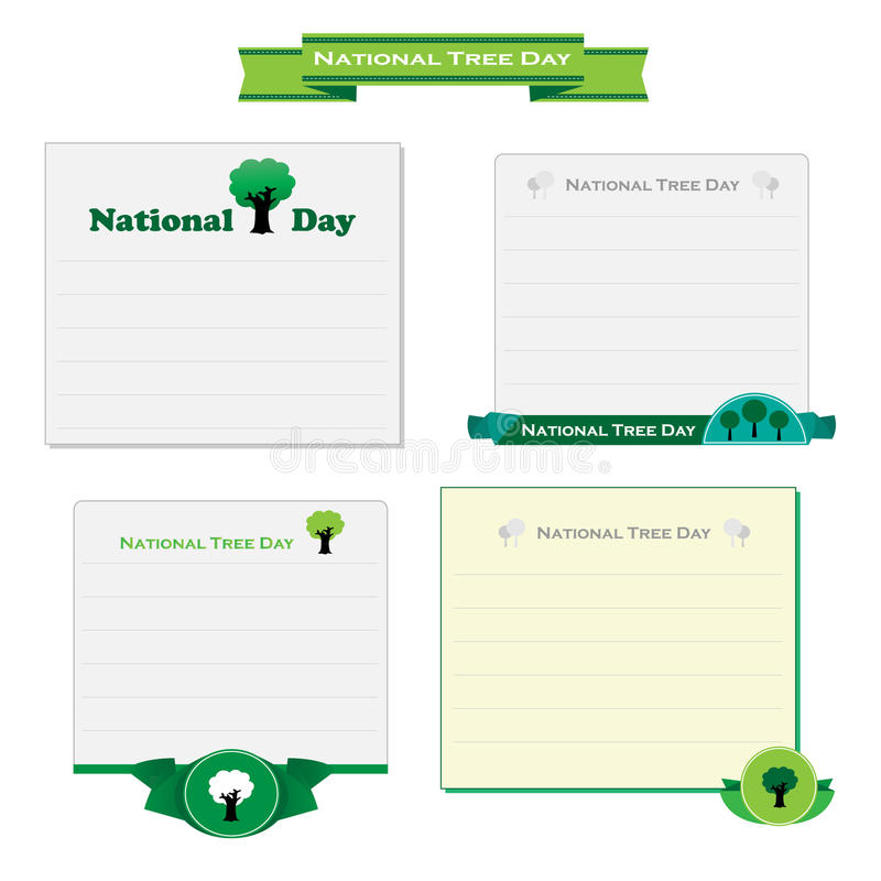 Vector nacional de la tarjeta del día del árbol ilustración del vector