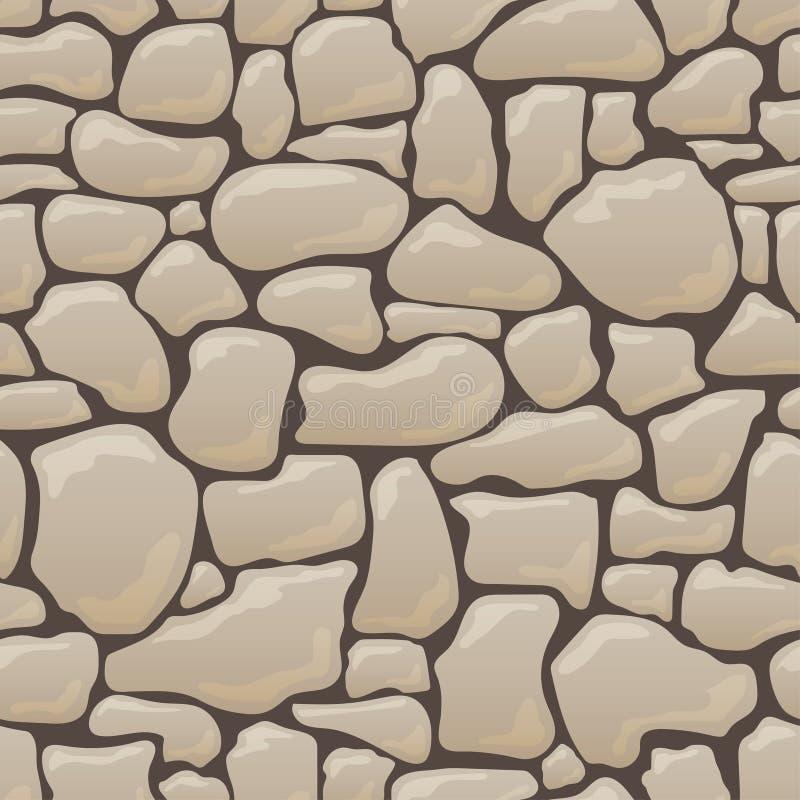 Vector nahtlose Beschaffenheit von Steinen in den braunen Farben vektor abbildung