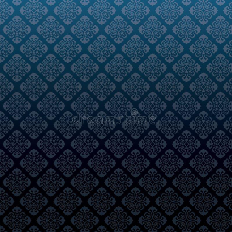 Vector nahtlosen Musterhintergrund des Damastes stock abbildung