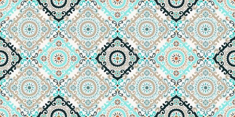 Vector nahtlosen Musterhintergrund des Damastes Elegante Luxusbeschaffenheit f?r Tapeten, Hintergr?nde und Seite f?llen Bestes Mo vektor abbildung