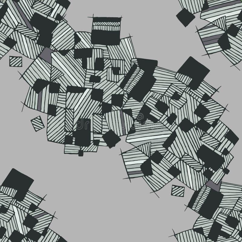 Vector nahtloses abstraktes geometrisches Muster im einfarbigen Pastelllicht und in den dunkelgrünen Farben lizenzfreie abbildung