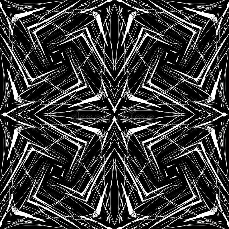 Geometrisches Muster in der Hippie-Art lizenzfreie abbildung