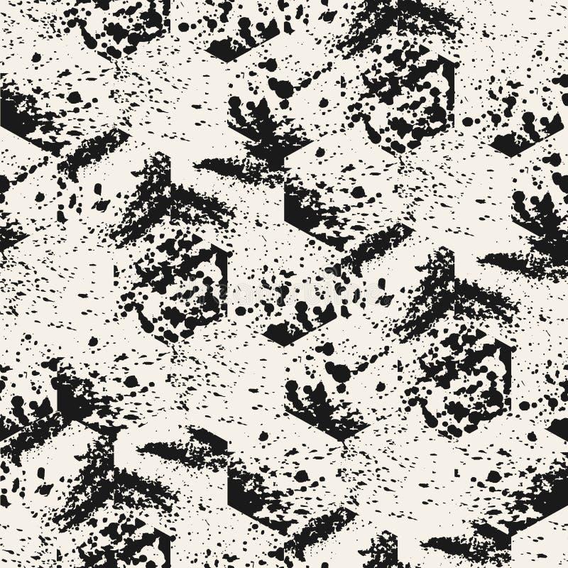 Vector nahtloses Muster Abstraktes Grunge stock abbildung