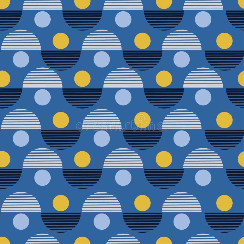 Vector nahtloses Muster Bunter abstrakter Hintergrund mit rundem stock abbildung