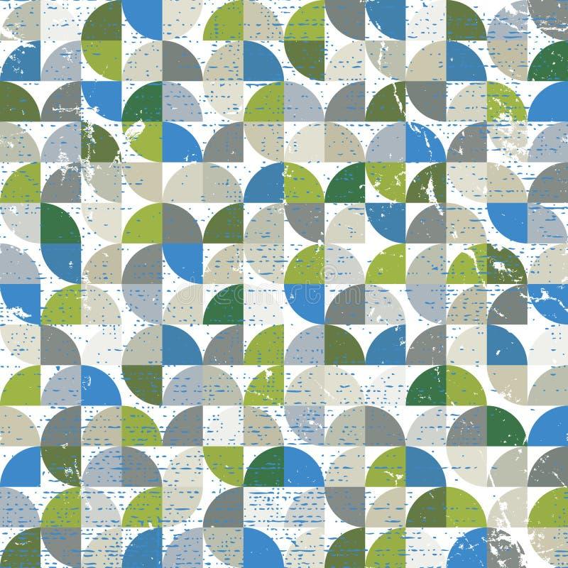 Vector nahtloses Muster der geometrischen bunten Textilzusammenfassung, squ vektor abbildung