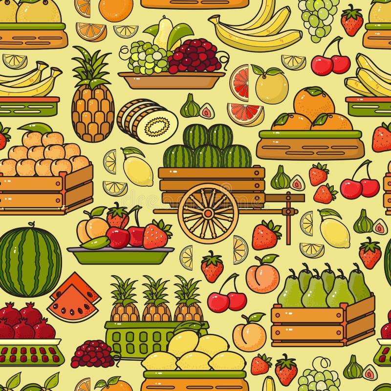 Download Vector Nahtloses Muster Der Hand Gezeichneten Linie Kunstfruchtikone Vektor Abbildung - Illustration von dekorativ, endlos: 90235497