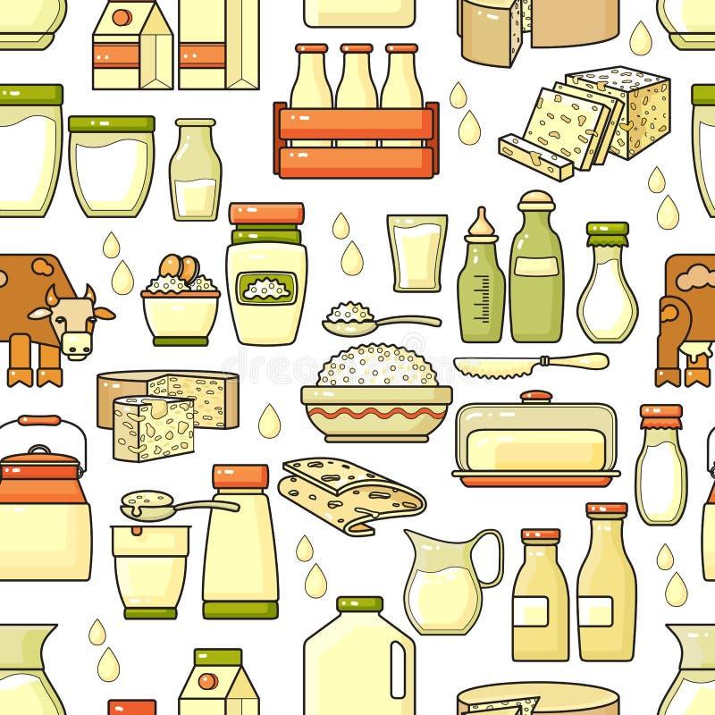 Download Vector Nahtloses Muster Der Hand Gezeichneten Linie Kunstmolkerei Vektor Abbildung - Illustration von nahrung, hintergrund: 90236424