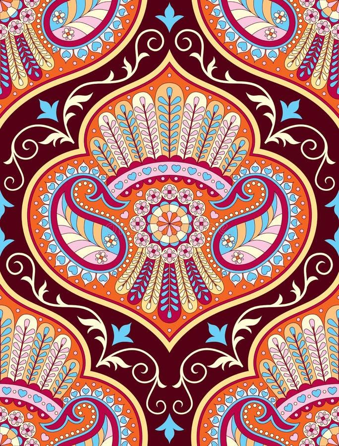 Vector nahtloses Muster für aufwändigen Dekor der Designschablonen-Weinlese Ostartelement Orientalische Luxusdekoration vektor abbildung