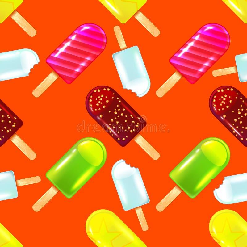 Vector nahtloses Muster fruite Eises am hellen Hintergrund vektor abbildung
