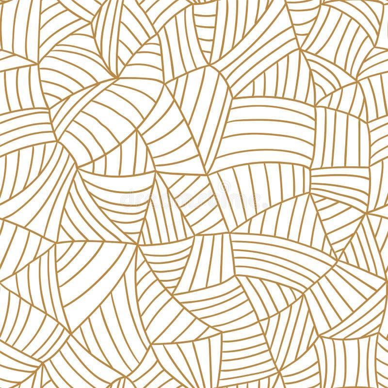 Vector nahtloses Muster Hand gezeichnete Beschaffenheit der Masche Wiederholen des abstrakten Hintergrundes stock abbildung