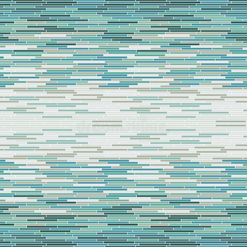 Vector nahtloses Muster mit Badezimmer- oder Küchentürkisfliese vektor abbildung