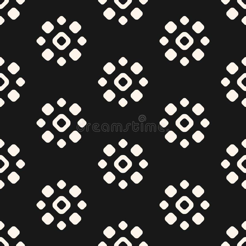 Vector nahtloses Muster mit Blumenformen, Kreise, Punkte Rebecca 6 lizenzfreie abbildung