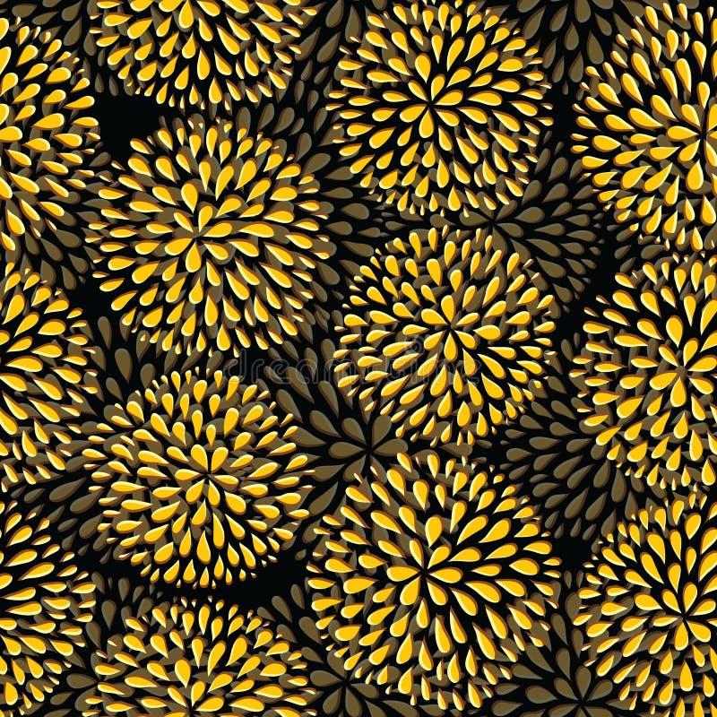 Vector nahtloses Muster Moderne Blumenbeschaffenheit stock abbildung