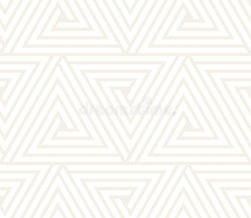 Vector nahtloses Muster Moderne stilvolle abstrakte Beschaffenheit Wiederholen des geometrischen Tiling von gestreiften Elementen vektor abbildung