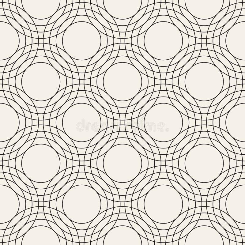Vector nahtloses Muster Moderne stilvolle abstrakte Beschaffenheit Wiederholen von geometrischen Fliesen vektor abbildung