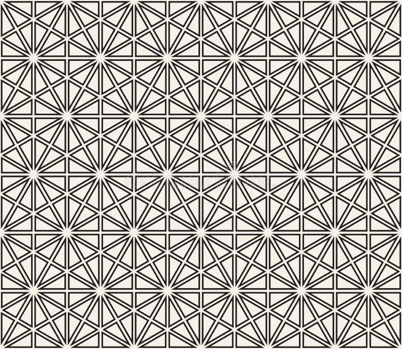 Vector nahtloses Muster Moderne stilvolle abstrakte Beschaffenheit Wiederholen von geometrischen Formen von gestreiften Elementen stockfoto