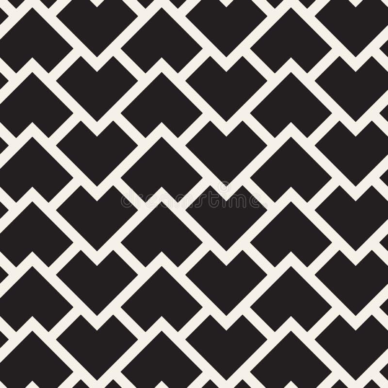 Vector nahtloses Muster Moderne stilvolle abstrakte Beschaffenheit Wiederholen von geometrischen Zickzacklinien vektor abbildung