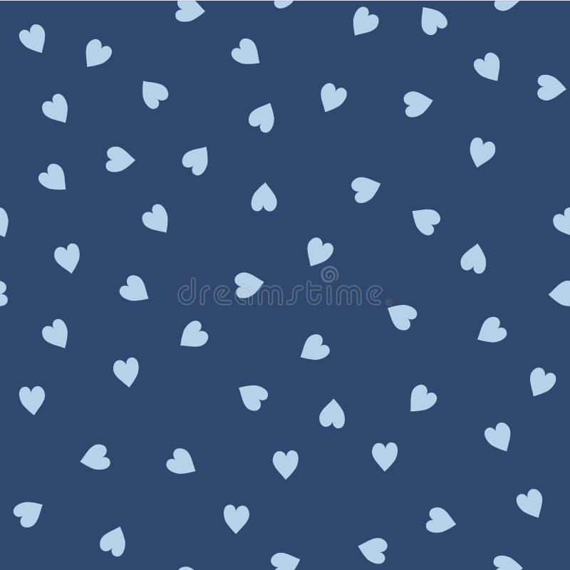 Vector nahtloses Muster Nach dem Zufall abgeschaffte Herzen Netter Hintergrund für Druck auf Gewebe, Papier, scrapbooking lizenzfreie abbildung