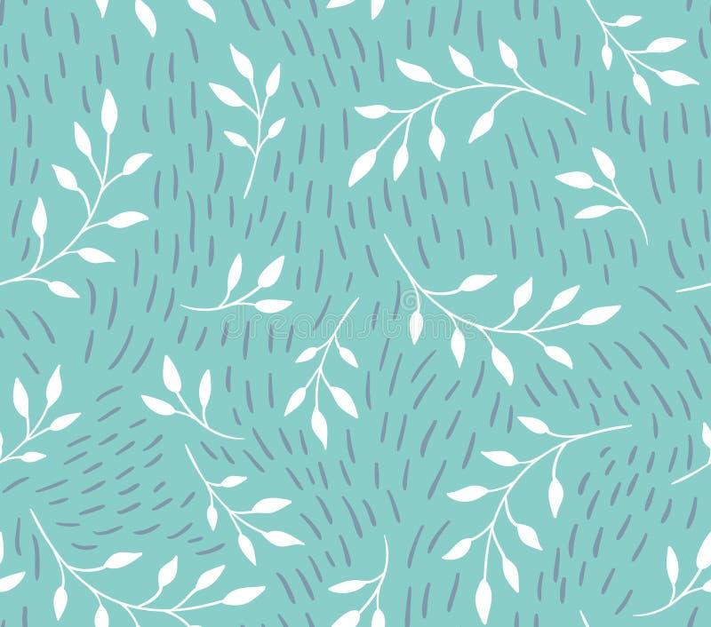Vector nahtloses Muster Stilvoller mit Blumenhintergrund stock abbildung