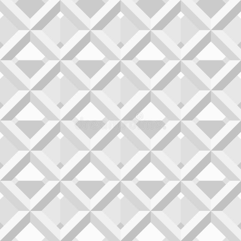 Vector nahtloses Muster - weißes und schwarzes geometri vektor abbildung