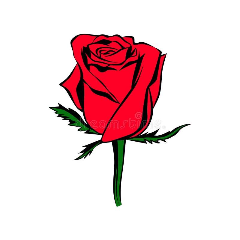 Vector nam knop gekleurd silhouet toe Embleem, tatoegering of embleem royalty-vrije illustratie