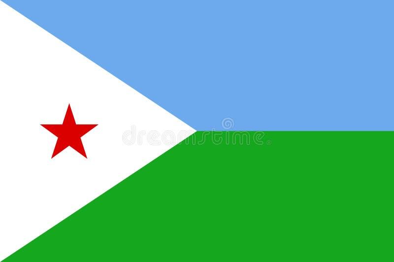 Vector national flag of Djibouti. vector illustration