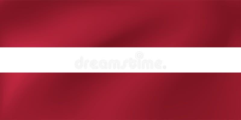 Vector nationale vlag van Letland Illustratie voor de sportenconcurrentie, traditionele of van de staat gebeurtenissen royalty-vrije illustratie