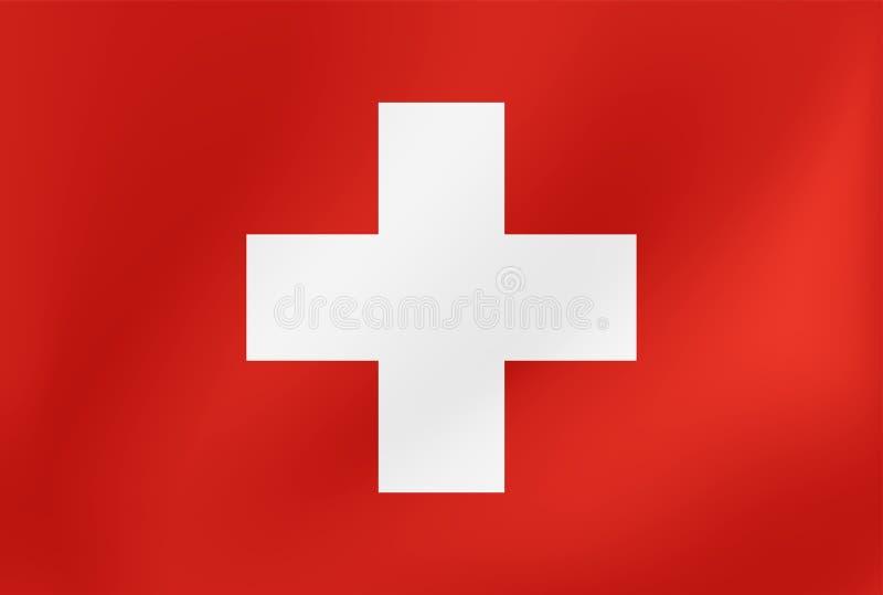 Vector nationale vlag van Zwitserland Illustratie voor de sportenconcurrentie, traditionele of van de staat gebeurtenissen stock illustratie