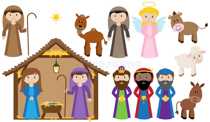 Vector Nativity Collection royalty free illustration