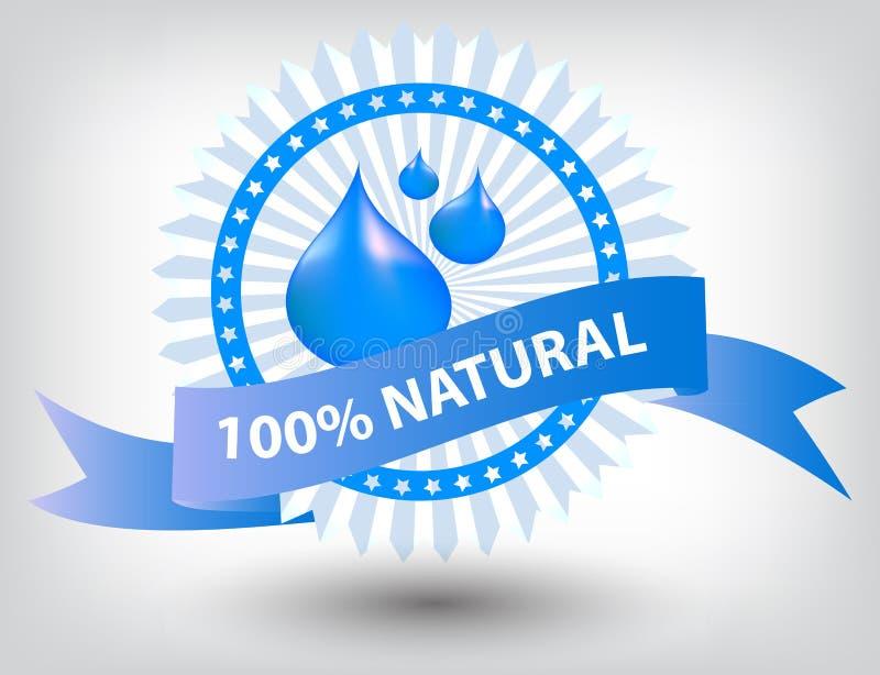 Download Vector Natural Blue Label Illustration Stock Vector - Illustration of environment, advertising: 28544840