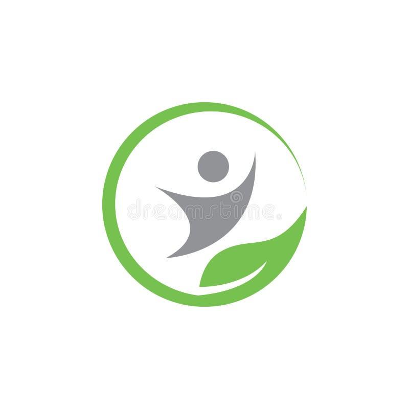 Vector natural de la plantilla del diseño del icono del logotipo de la salud libre illustration