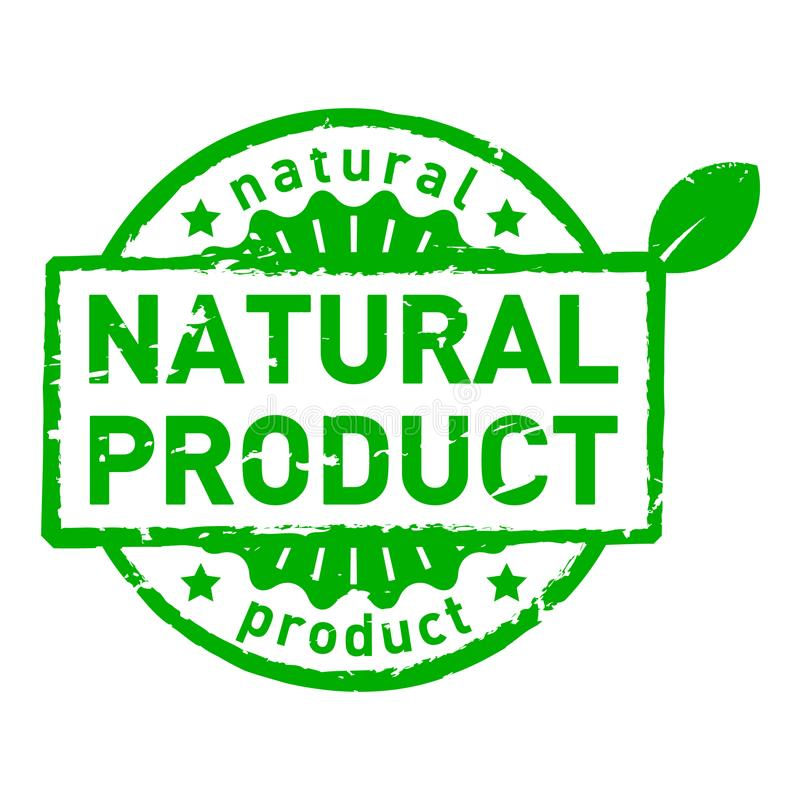 Vector natural product grunge rubber stamps isolated stock illustration