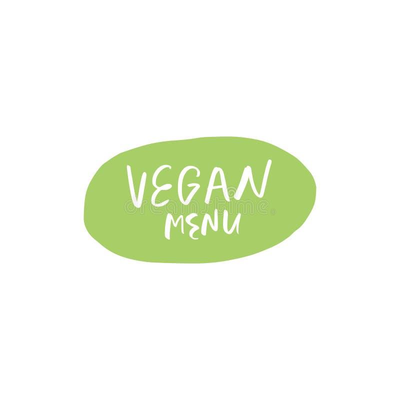 Vector natuurlijk groen biologisch productembleem, markering en etiket vector illustratie