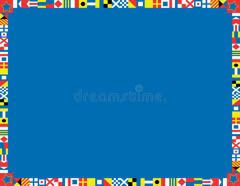 Download Vector Nautical Flag Border Stock Vector - Illustration: 24223076