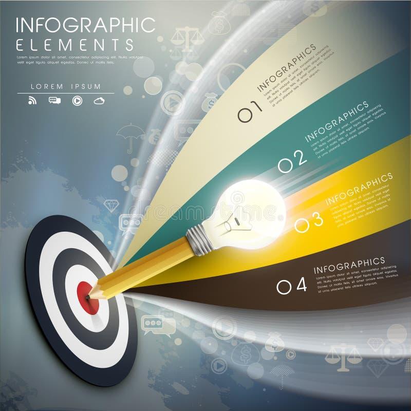 Vector nauwkeurige idee infographic elementen royalty-vrije illustratie