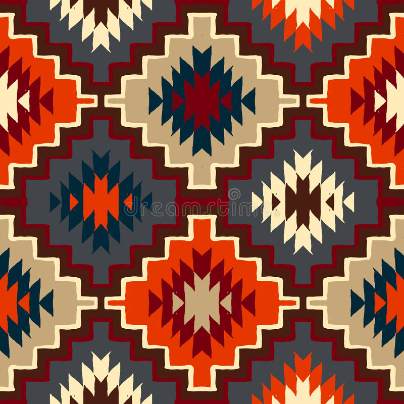 Vector navajo tribal ornament royalty free illustration
