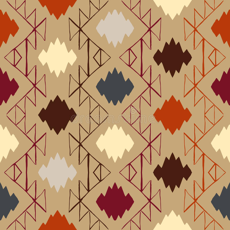 Vector navajo tribal ornament stock illustration