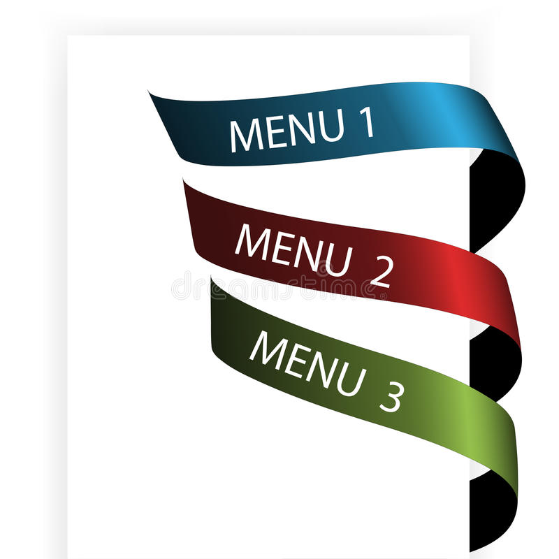 Vector Navigation Menu On The White Paper Stock Photo