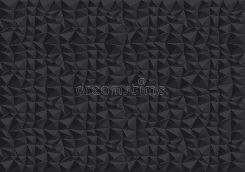 Vector negro abstracto de la textura del fondo del modelo del polígono ilustración del vector