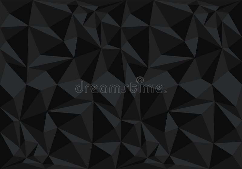 Vector negro abstracto de la textura del fondo del modelo del polígono libre illustration