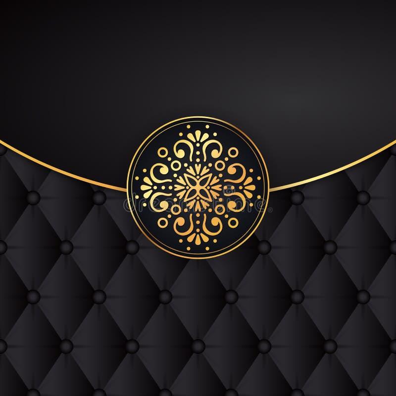 Vector Negro Del Diseño Del Fondo Del Oro Modelo Del Indio De Sun ...