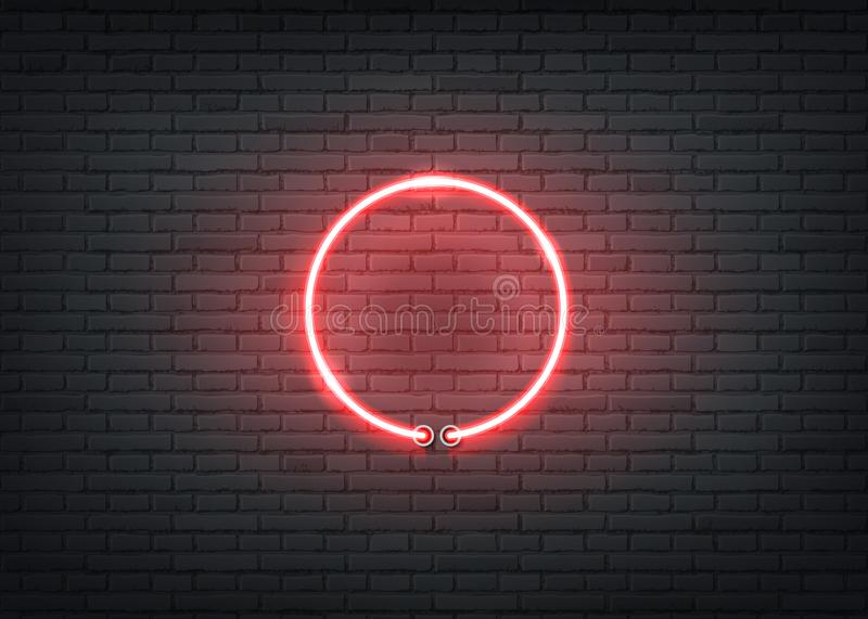 Vector neon entrance red signage bar night club stock illustration