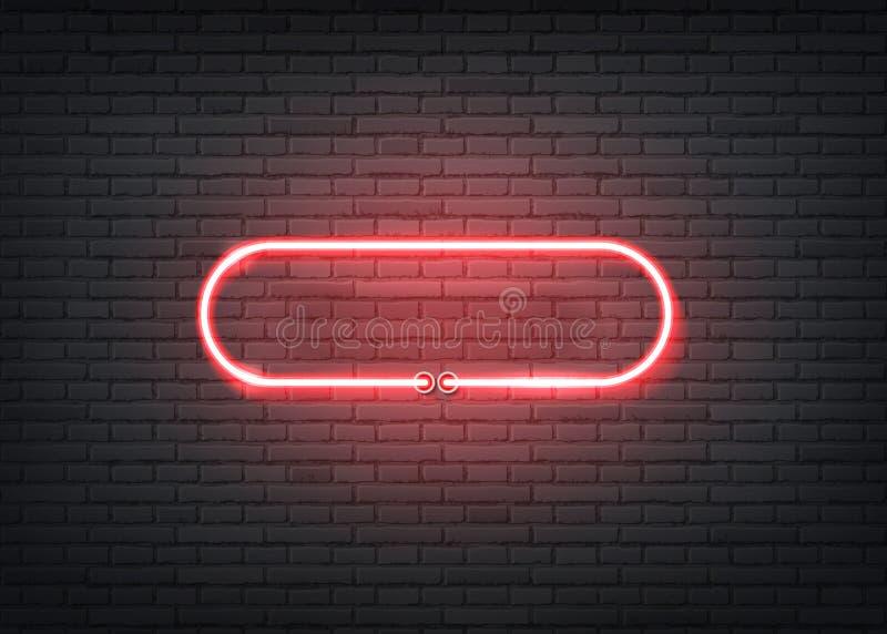 Vector neon entrance red signage bar night club vector illustration