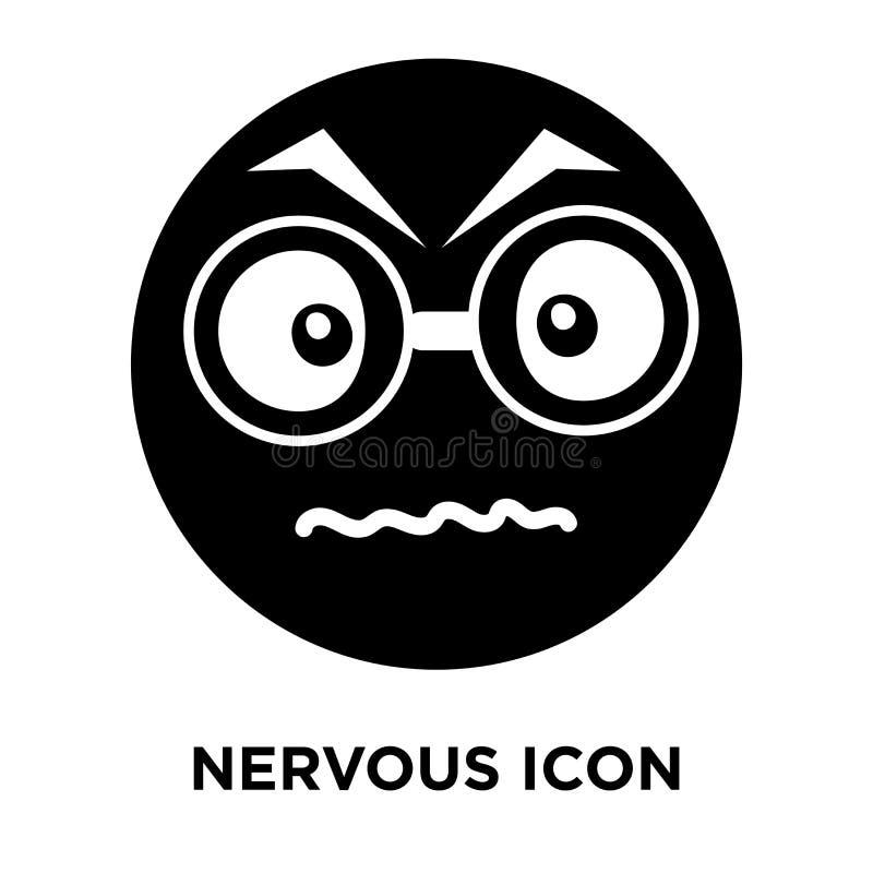 Vector nervioso del icono aislado en el fondo blanco, concepto o del logotipo ilustración del vector