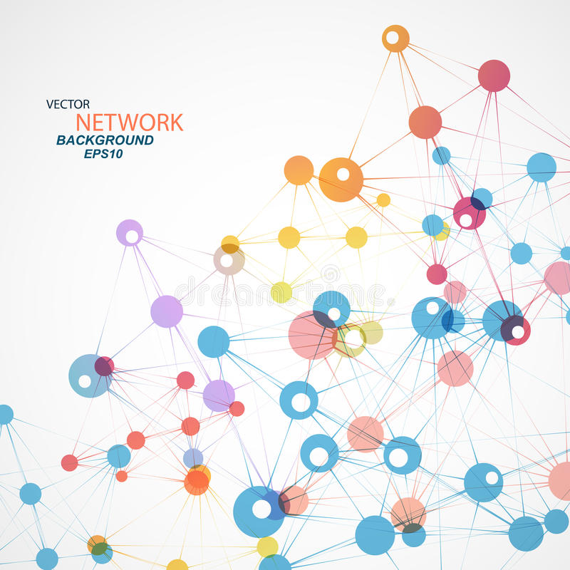 Vector network connection and DNA eps 10 royalty free illustration